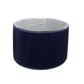 Pleated Navy Velvet Lamp Shade