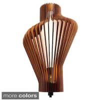 Canopy 1-Light LED Energy Saving Wood Shade Wall Sconce