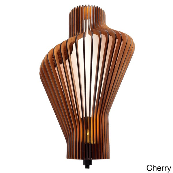 Canopy 1-Light LED Energy Saving Wood Shade Wall Sconce