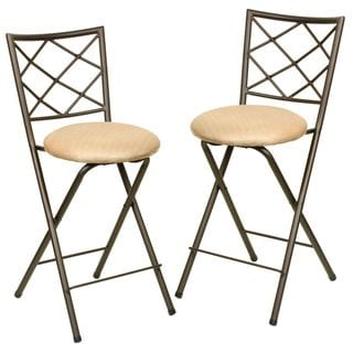 Folding Bar Stool Chair Set (Set of 2)