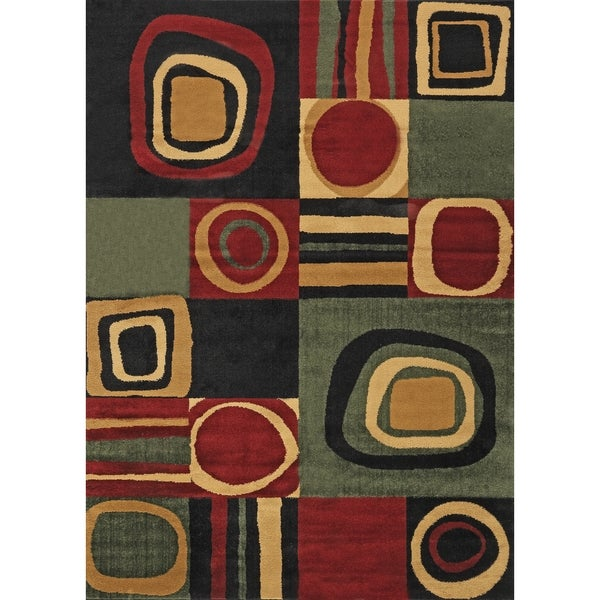 Geometric Multicolored Area Rug (7'10 x 10'2)