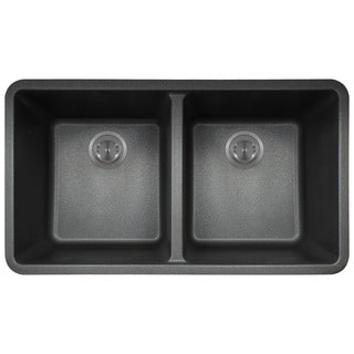 polaris sinks black astragranite double bowl kitchen sink acrylic undermount kitchen sinks for less   overstock com  rh   overstock com