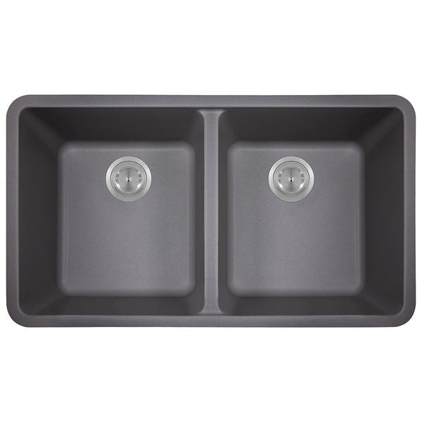 Polaris Sinks Silver Double Bowl Kitchen Sink. Opens flyout.