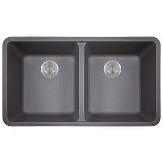 Polaris Sinks Silver Double Bowl Kitchen Sink