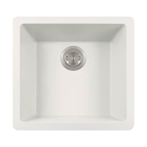 Polaris Sinks White Single Bowl Kitchen Sink