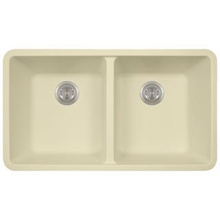 Polaris Sinks Beige AstraGranite Double Kitchen Sink