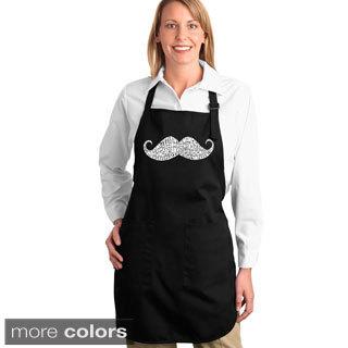 Moustache Adjustable-strap Kitchen Apron