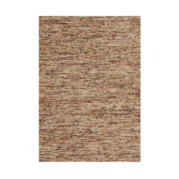 Hand-made Braided Tan New Zealand Blend Wool Rug (5'x 8') - 5' x 8'