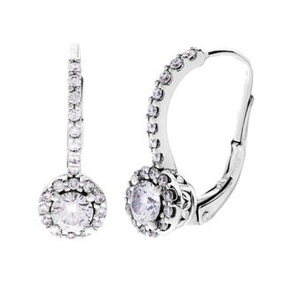SummerRose 14k White Gold 1ct TDW Diamond Leverback Earrings (G-H, SI1-SI2)