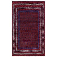 Herat Oriental Semi-antique Afghan Hand-knotted Tribal Balouchi Wool Rug - 2'8 x 4'5
