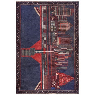 Handmade Herat Oriental Semi-antique Afghan Tribal Balouchi Wool Rug (Afghanistan) - 3' x 4'3