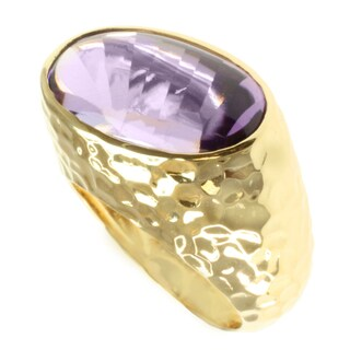 Michael Valitutti Gold over Sterling Silver Amethyst Ring