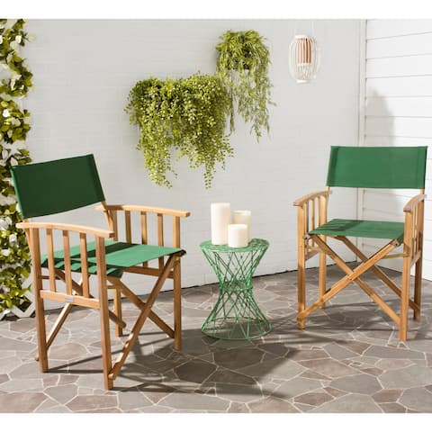 Safavieh Outdoor Living Laguna Green Acacia Wood Director Chair (Set of 2)