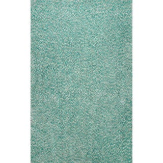 nuLOOM Hand-tufted Shag Synthetics Green Rug (7' 6 x 9' 6)