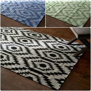 nuLOOM Flat Woven Wool Texture Rug (7'6 x 9'6)