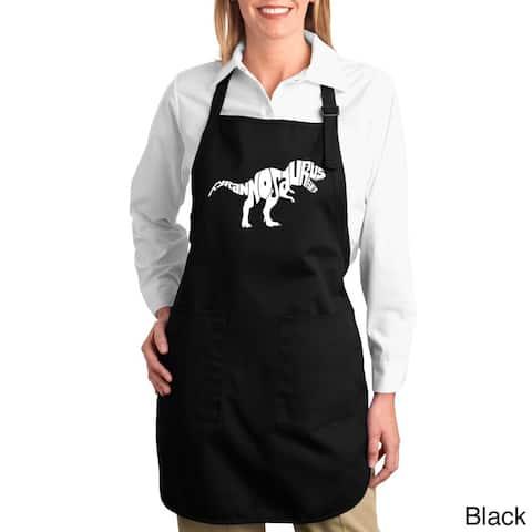 Tyrannosaurus Rex Text Cotton Kitchen Apron