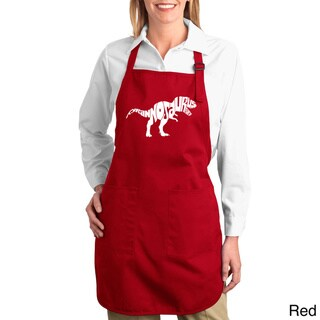 Tyrannosaurus Rex Text Cotton Kitchen Apron