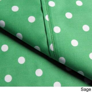 Superior Wrinkle Resistant Polka Dot Sheet Set