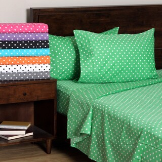 Superior 600 Thread Count Deep Pocket Polka Dot Cotton Blend Sheet Set (3 options available)