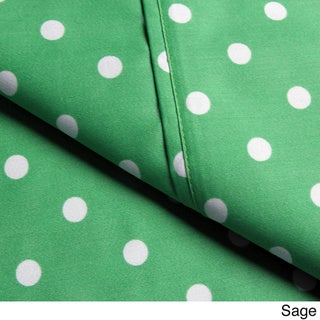 Superior 600 Thread Count Deep Pocket Polka Dot Cotton Blend Sheet Set
