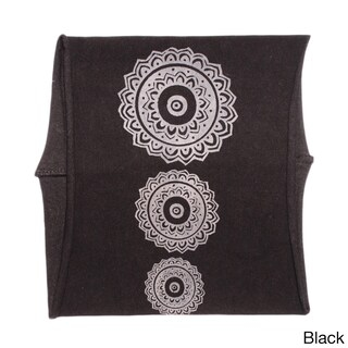 Handmade Unisex Mandala Organic Cotton Headband (Nepal) (Option: Black)