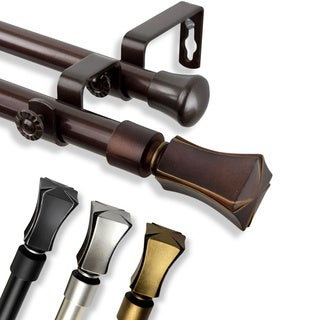 InStyleDesign Tower Adjustable Double Curtain Rod Collection