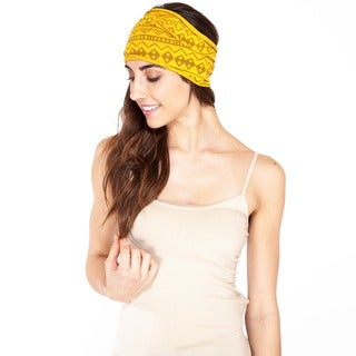 Hand-crafted Unisex Aztec Tribal Organic Cotton Headband (Nepal)