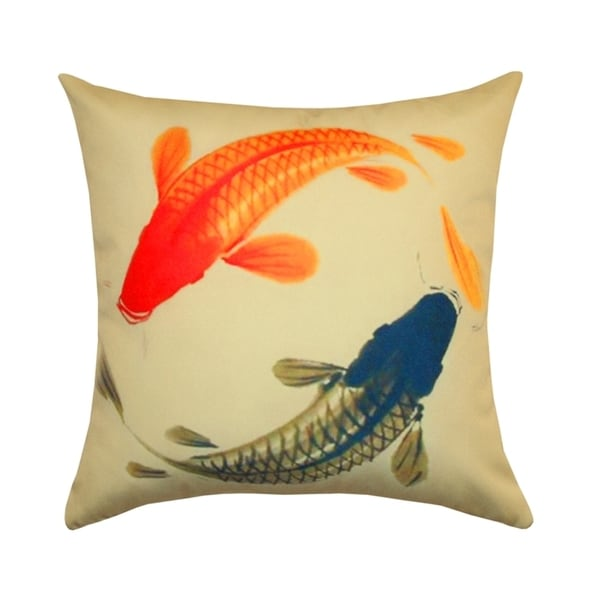 Shop Handmade Koi Outdoor Pillows India Free Shipping Today