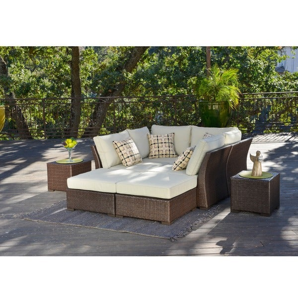 Marvelous Corvus Oreanne 8 Piece Brown Wicker Patio Furniture Set   Free Shipping  Today   Overstock.com   16219226