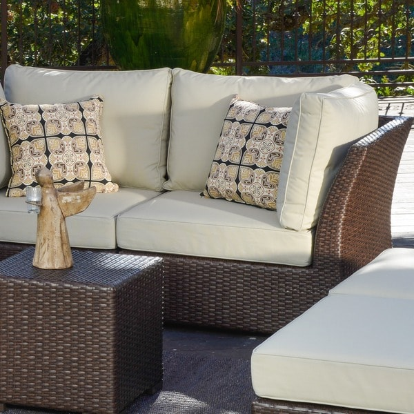 Corvus Oreanne 8 Piece Brown Wicker Patio Furniture Set   Free Shipping  Today   Overstock.com   16219226 Part 20