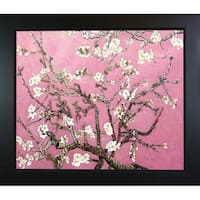 La Pastiche Original 'Branches of an Almond Tree in Blossom, Pearl Pink' Hand-painted Framed Canvas Art