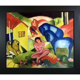 Franz Marc 'The Dream ' Hand Painted Framed Canvas Art