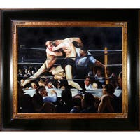 George Bellows 'Stag Night at Sharkey's ' Hand Painted Framed Canvas Art
