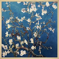 Vincent Van Gogh 'Branches Of An Almond Tree In Blossom ' Hand Painted Framed Canvas Art