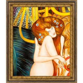 Gustav Klimt 'Beethoven Frieze ' Hand Painted Framed Canvas Art