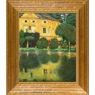 Gustav Klimt 'Schloss Kammer on Attersee ' Hand Painted Framed Canvas Art
