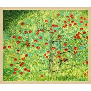 Gustav Klimt 'The Apple Tree ' Hand Painted Framed Canvas Art