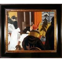 Edward Hopper 'New York Restaurant ' Hand Painted Framed Canvas Art