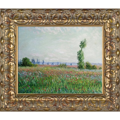 Claude Monet 'The Fields of Poppies ' Hand Painted Framed Canvas Art