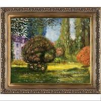 Claude Monet 'Il Parco Monceau ' Hand Painted Framed Canvas Art