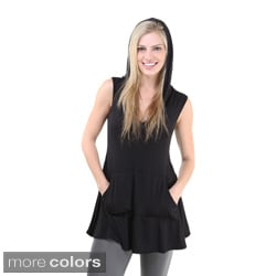 24/7 Comfort Apparel Women's Sleeveless Tunic Hoodie