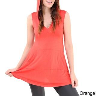 24/7 Comfort Apparel Women's Sleeveless Tunic Hoodie