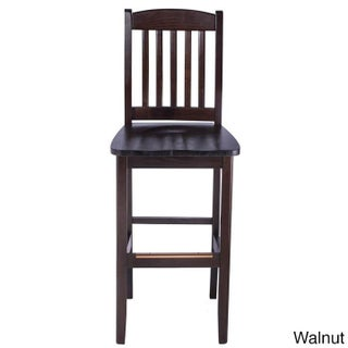 College Solid Beech Wood Bar Stool (Option: Solid Wood - Walnut - Walnut Finish)