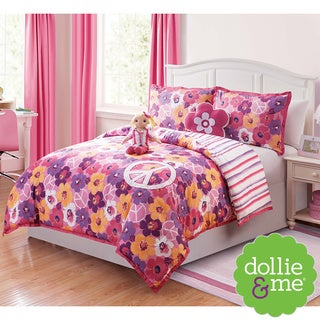 VCNY Dollie & Me Peace Sign 5-piece Reversible Comforter Set