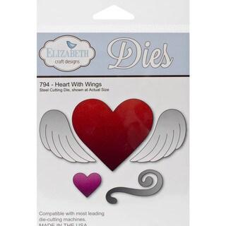 Elizabeth Craft Metal Die-Heart W/Wings