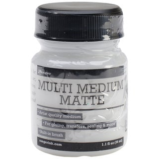 Ranger Multi Medium 1oz Jar W/Built In Brush-Matte