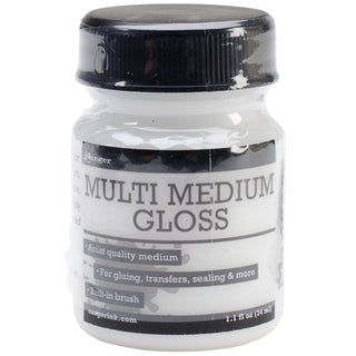 Ranger Multi Medium 1oz Jar W/Built In Brush-Gloss