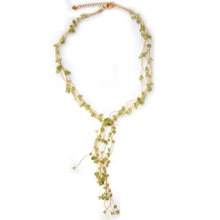 Handmade Peridot 'Thai Fern' Necklace (Thailand)