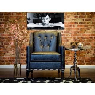 Roxbury Antique Black Leather Chair