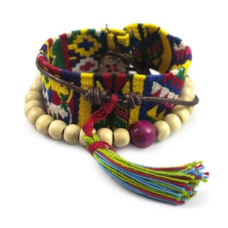 Handmade Cotton 'Almolonga Heritage' Bracelet (Guatemala)